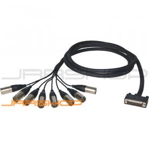 ALVA Premium Analog Cable D-sub25 to 8 x XLRM