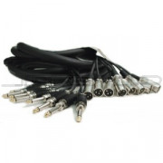 "Hosa CPP-804MTL 8-Ch Recording Snake Unbalanced 1/4"" 4m"