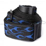 Dunlop Strap D38-11BL STRAP FLAMBE-BLUE-EA
