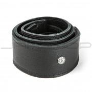 Dunlop Strap BMF14BK STRAP 2.5 IN BISON LEATHER BLACK-EA
