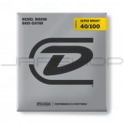 Dunlop Bass Super Bright Nickel String Set DBSBN40100 BASS-NKL SB LT-4/SET