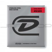 Dunlop Bass Super Bright Steel String Set DBSBS45105 BASS SS SB MD-4/SET
