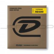 Dunlop Bass Flatwound Long Scale String Set DBFS40100 BASS FLATWND LG SCALE 40/100-4/SET