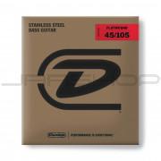 Dunlop Bass Flatwound Long Scale String Set DBFS45105 BASS FLATWND LG SCALE 45/105-4/SET