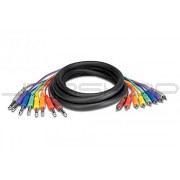 """Hosa CPR-804 8-Ch Snakes RCA to Unbalanced 1/4"""" (M) 4m"""