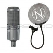 Audio Technica AT2020 USB+ Microphone + Free NOS Audio Pop Filter