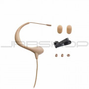 "Audio Technica BP893CT4-TH MicroEarset omnidirectional condenser headworn microphone with 55"" cable terminated with TA4F-type connector for Shure wireless, beige"