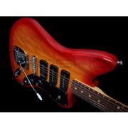 Tone Bakery Jazzbird with Fender Neck - Cherry Burst