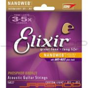 Elixir Phosphor Bronze Acoustic Strings Nanoweb Custom Light