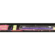 American DJ Black 48BLB 48 Inch UV Black Light Fixture Pro Used