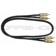 Hosa CRA-410G Gold Plated Dual RCA 10 ft.