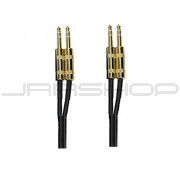 "Hosa CSS-405G Gold Plated Dual TRS 1/4"" 5 ft."