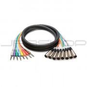 """Hosa STX-804M 8-Ch Snakes XLR (M) to TRS 1/4"""" (M) 4m"""