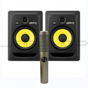 KRK RP8G3 Monitors (Pair) + NOS Panther MK 2 Ribbon Mic Combo