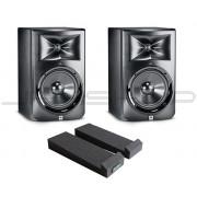 "JBL LSR308 8"" Monitors - Pair + Monitor Pads Combo"