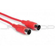 Hosa MID-315RD MIDI Cable, 5-pin DIN to Same, 15 ft