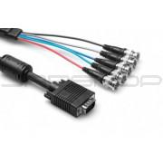 Hosa RGB-520FE VGA Breakout, DE15 to 5 x BNC, Ferrite Bead, 20 ft