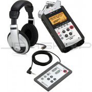 Zoom H4n Handy Recorder, Samson HP10, & RC4 Bundle