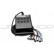 Hosa SH-8X4-25 Pro-Conex Stage Box Snake 8 x XLR Sends and 4 x 1/4 in TRS Returns, 25 ft