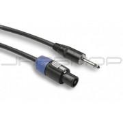 Hosa SKT-425Q Pro Speaker Cable, REAN Loudspeaker to 1/4 in TS, 25 ft