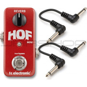 TC Electronic Hall of Fame Mini HOF Reverb Pedal + 2 Free Cables Combo